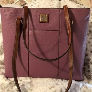 Dooney & Bourke Dark Mauve  Lexington Shopper NWT